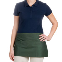 Choice 12 inch x 26 inch Hunter Green Front of the House Waist Apron