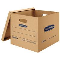 Banker's Box 7717201 SmoothMove Classic 18 inch x 15 inch x 14 inch Kraft / Blue Medium Moving Box   - 8/Case