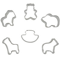 Wilton 2308-1206 6-Piece Metal Mini Noah's Ark Cookie Cutter Set
