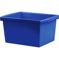 Storex 61514U06C 10 inch x 12 5/8 inch x 7 3/4 inch Assorted Color 4 Gallon Plastic Storage Bin