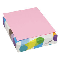 Mohawk 101311 BriteHue 8 1/2 inch x 11 inch Ultra Pink Ream of 20# Multipurpose Colored Paper - 500/Sheets