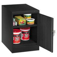 Tennsco 1824BK 19 inch x 24 inch x 30 inch Black Single Door Storage Cabinet