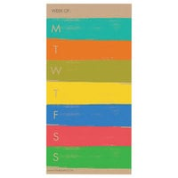 TF Publishing 106248 8 inch x 4 inch Paint Strokes Undated Weekly Magnetic Pad - 70 Sheets