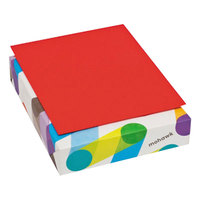 Mohawk 101337 BriteHue 8 1/2 inch x 11 inch Red Ream of 24# Multipurpose Colored Paper - 500/Sheets