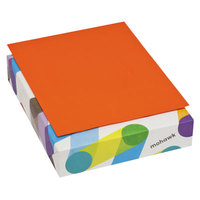 Mohawk 103655 BriteHue 8 1/2 inch x 11 inch Orange Ream of 24# Multipurpose Colored Paper - 500/Sheets