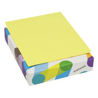 Mohawk 101246 BriteHue 8 1/2 inch x 11 inch Ultra Lemon Ream of 20# Multipurpose Colored Paper - 500/Sheets