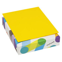 Mohawk 102996 BriteHue 8 1/2 inch x 11 inch Sun Yellow Ream of 24# Multipurpose Colored Paper - 500/Sheets