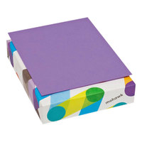 Mohawk 102129 BriteHue 8 1/2 inch x 11 inch Violet Ream of 24# Multipurpose Colored Paper - 500 Sheets