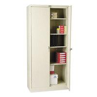 Tennsco 1870PY 36 inch x 18 inch x 78 inch Putty High Deluxe Storage Cabinet