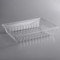 Choice 26 inch x 18 inch x 5 inch Clear Plastic Food Drain Box / Colander