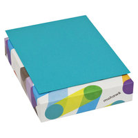 Mohawk 102657 BriteHue 8 1/2 inch x 11 inch Sea Blue Ream of 24# Multipurpose Colored Paper - 500/Sheets