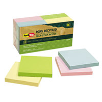 Redi-Tag 26704 3 inch x 3 inch Assorted Colors Self-Stick Notes - 12/Pack