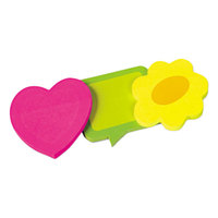 Redi-Tag 41200 2 5/8 inch x 2 5/8 inch Die-Cut Shapes Self-Stick Notes - 3/Pack