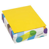 Mohawk 103945 BriteHue 8 1/2 inch x 11 inch Yellow Ream of 24# Multipurpose Colored Paper - 500/Sheets