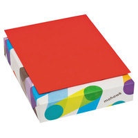 Mohawk 471608 BriteHue 8 1/2 inch x 11 inch Red Ream of 20# Multipurpose Colored Paper - 500/Sheets