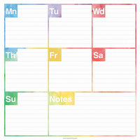 TF Publishing 200081 7 3/4 inch x 7 3/4 inch Elements Undated Weekly Desk Pad