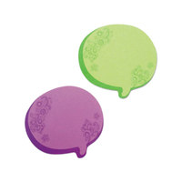 Redi-Tag 22102 3 inch x 2 3/4 inch Green / Purple Thought Bubble Notes - 2/Set