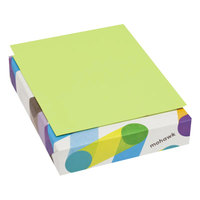 Mohawk 101261 BriteHue 8 1/2 inch x 11 inch Ultra Lime Ream of 20# Multipurpose Colored Paper - 500/Sheets