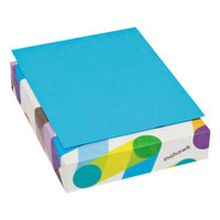 Mohawk 101592 BriteHue 8 1/2 inch x 11 inch Blue Ream of 24# Multipurpose Colored Paper - 500/Sheets