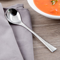 Reed & Barton RB118-016 Hollis 6 1/4 inch 18/10 Stainless Steel Extra Heavy Weight Bouillon Spoon - 12/Case