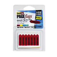 Redi-Tag 72020 Mini Assorted Color 1 1/4 inch x 5/16 inch Sign Here Arrow Page Flag - 126/Pack