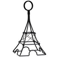 Clipper Mill by GET SGN-01 8 inch Black Powder Coated Iron Large Eiffel Tower Card Holder