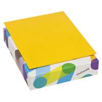 Mohawk 103895 BriteHue 8 1/2 inch x 11 inch Gold Ream of 24# Multipurpose Colored Paper - 500/Sheets