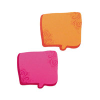 Redi-Tag 22100 2 3/4 inch x 2 3/4 inch Neon Orange / Magenta Thought Bubble Notes - 2/Set