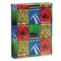 Mohawk 36213 Fine 8 1/2 inch x 11 inch Pure White Ream of 100# Gloss Copy Paper - 500/Sheets