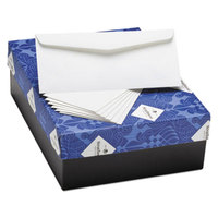 Strathmore 02287 Mohawk Fine #10 4 1/8 inch x 9 1/2 inch Bright White 25% Cotton Business Envelope with Laid Finish - 500/Box