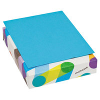 Mohawk 472208 BriteHue 8 1/2 inch x 11 inch Blue Ream of 20# Multipurpose Colored Paper - 500/Sheets