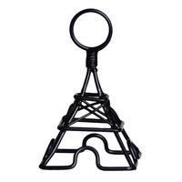 Clipper Mill by GET SGN-02 3 1/2 inch Black Powder Coated Iron Small Eiffel Tower Card Holder