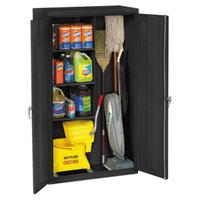Tennsco JAN6618DHBK 36 inch x 18 inch x 64 inch Black Janitorial Cabinet