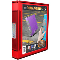Storex 31582B06C DuraGrip Red View Binder with 1 inch D-Rings