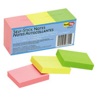 Redi-Tag 23701 2 inch x 1 1/2 inch Neon Self-Stick Notes - 12/Pack