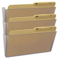 Storex 70229U06C Clear 3 Pocket Legal Sized Wall File Set