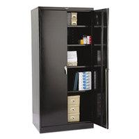 Tennsco 2470BK 36 inch x 24 inch x 78 inch Black High Deluxe Storage Cabinet