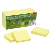 Redi-Tag 25700 2 inch x 1 1/2 inch Yellow Self-Stick Notes   - 12/Pack