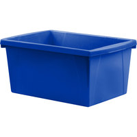 Storex 61515U06C 10 5/8 inch x 15 5/8 inch x 8 inch Assorted Color 5 1/2 Gallon Plastic Storage Bin