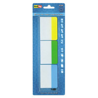 Redi-Tag 31080 Write-On 3 Assorted Color 2 inch x 1 1/2 inch Self-Stick Index Tab - 30/Pack