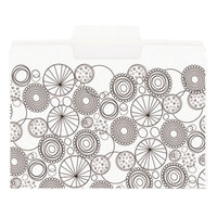 Smead 11649 SuperTab Coloring Letter Size File Folder - Standard Height with 1/3 Cut Assorted Tab, White - 24/Pack