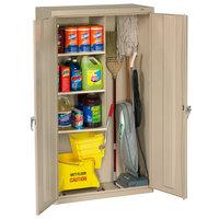 Tennsco JAN6618DHPY 36 inch x 24 inch x 78 inch Putty Janitorial Cabinet