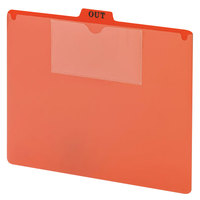 Smead 51920 10 inch x 11 3/4 inch Red Poly Out Guide with Pockets, Letter - 50/Box
