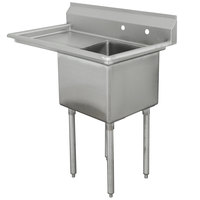 Advance Tabco FCV1-1620-18L Fabricated One Compartment Sink with Left Drainboard - 36 1/2 inch
