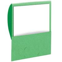 Smead 87915 Organized Up Stackit Letter Size Textured 2-Pocket Paper Pocket Folder, Green - 10/Pack