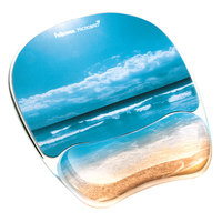 Fellowes 9179301 Sandy Beach Gel Mouse Pad with Wrist Rest and Microban Protection