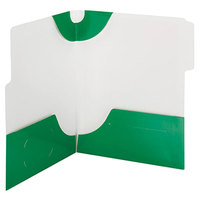 Smead 87965 SuperTab Lockit Letter Size 2-Pocket Laminated Pocket Folder - 1/3 Cut Top Tab, Green - 5/Pack
