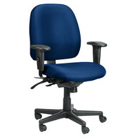 Eurotech 49802A-AT30 4x4 Series Navy Fabric Mid Back Multifunction Swivel Office Chair