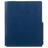 Smead 87927 Big Pocket Lockit Letter Size 2-Pocket Paper Pocket Folder, Monaco Blue - 5/Pack