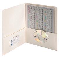Smead 87861 Letter Size Heavyweight Textured 2-Pocket Paper Pocket Folder, White - 25/Box